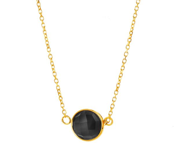9ct Yellow Gold Necklace with Onyx