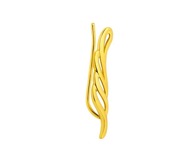 Yelow gold earr cuff - right