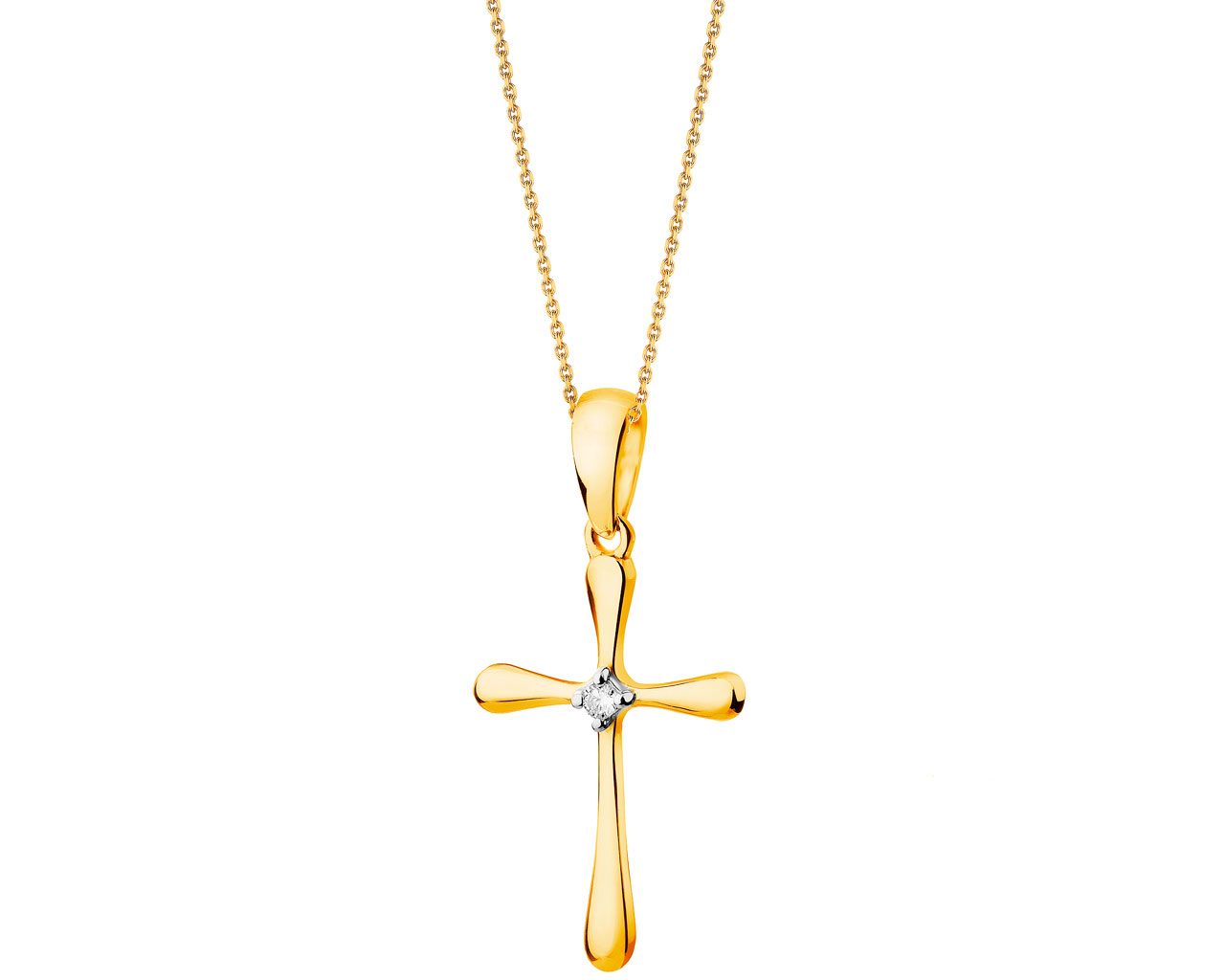 9ct yellow gold pendant with diamond artelioni aloadofball