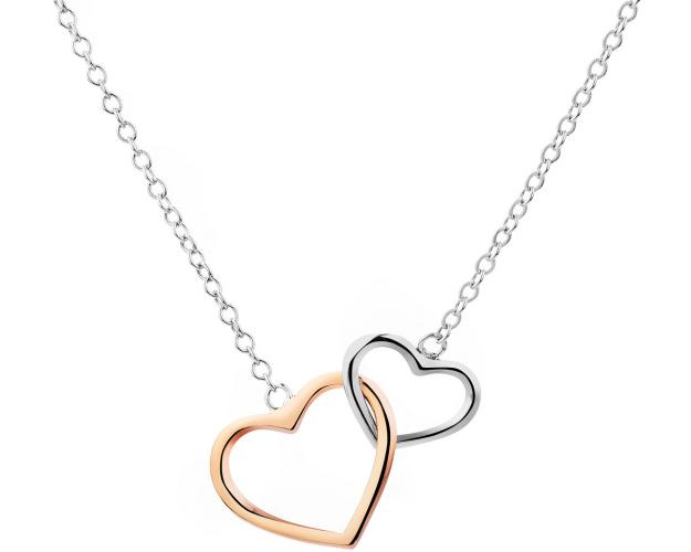 8ct White Gold, Pink Gold Necklace
