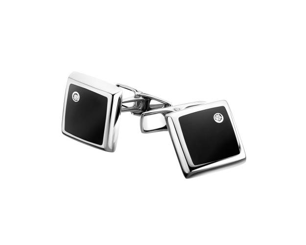 14ct White Gold Cufflink with Diamonds