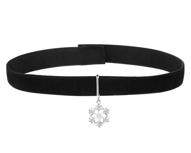 Brass choker with cubic zirconia
