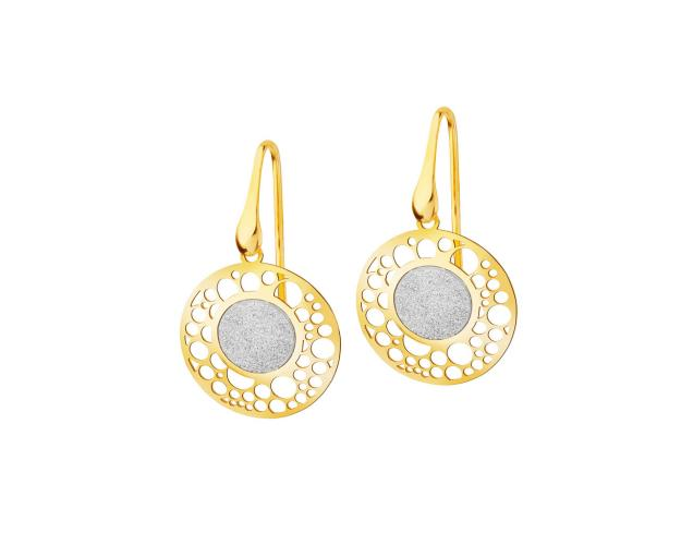 Gold plated silver earrings