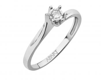 White gold brilliant cut diamond ring