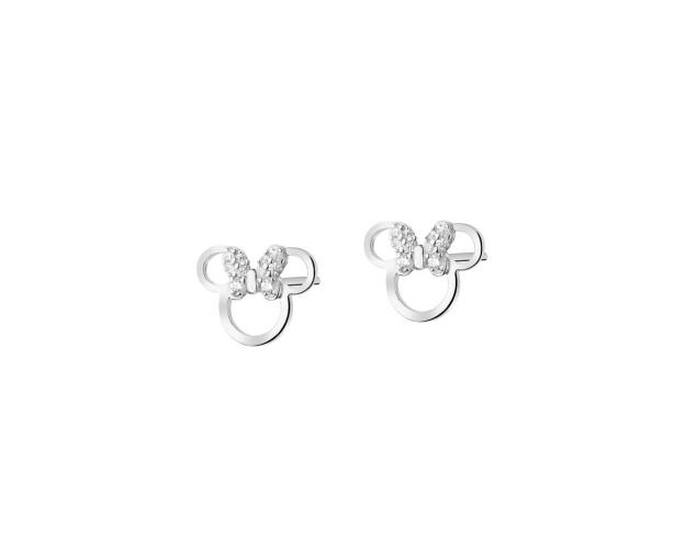 Sterling silver earrings with cubic zirconia - Minnie