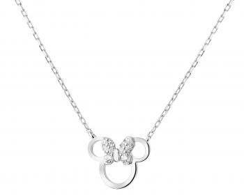Sterling silver necklace with cubic zirconia - Minnie