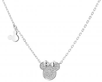 Sterling silver necklace with cubic zirconia