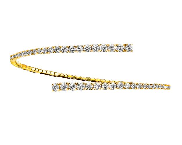 18ct Yellow Gold Bracelet with Diamonds