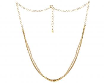 Gold plated bronze necklace