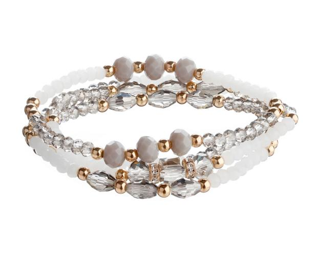 Gold-Plated Brass Bracelet with Crystal