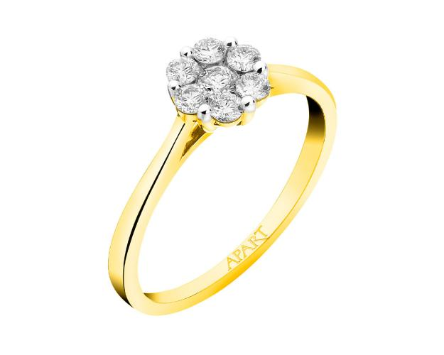 Anillo de Oro Amarillo con Diamantees