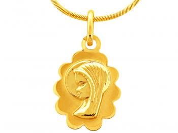 Gold pendant - holy medal