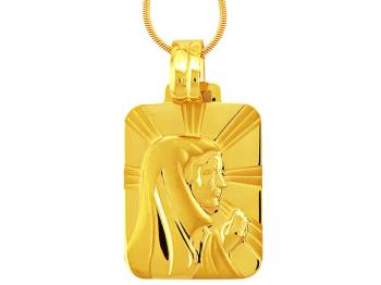 Gold devotional pendant