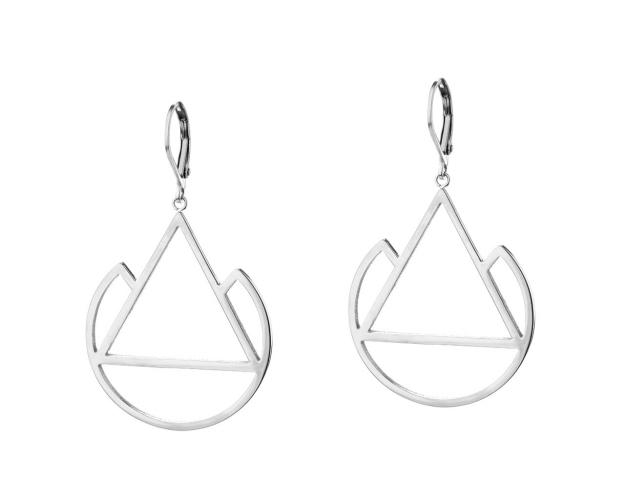 Stainless steel drop earrings