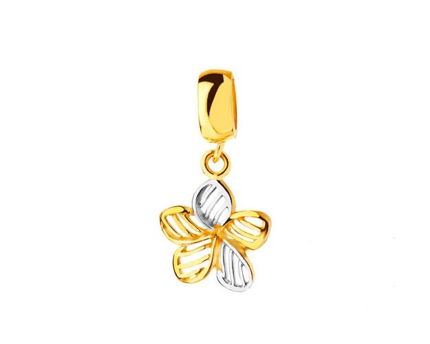 8ct Rhodium-Plated Yellow Gold Pendant
