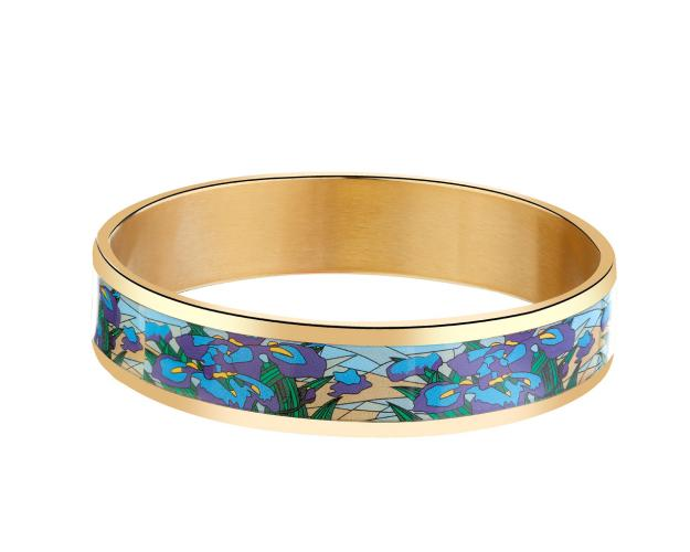 Stainless steel & enamel bangle