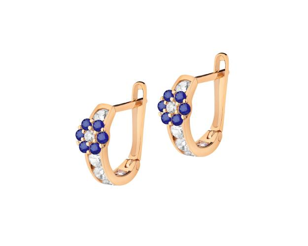 8ct Pink Gold Earrings with Cubic Zirconia