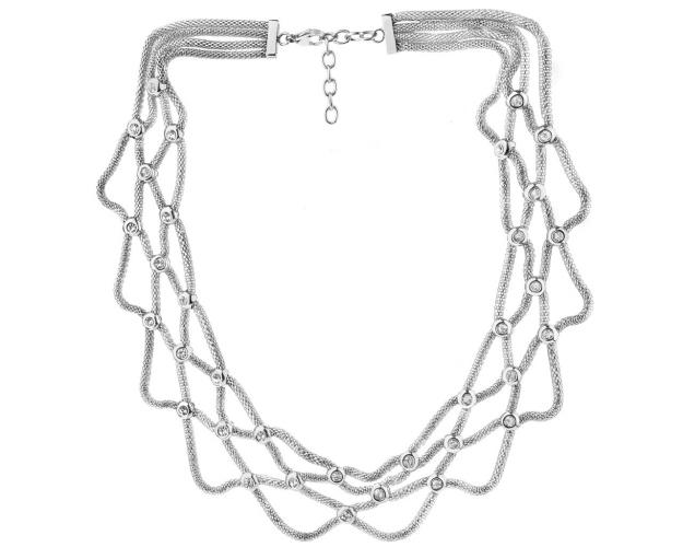 Collar de Acero Inoxidable con Zirconia