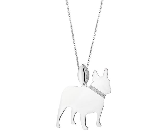 Sterling silver pendant - French Bulldog