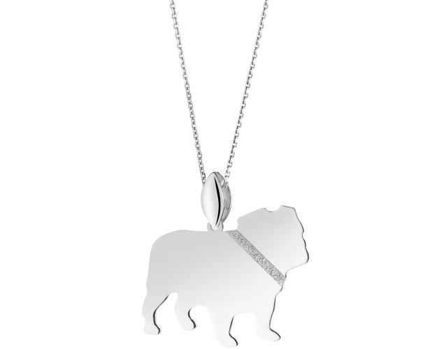 Sterling silver pendant - English Bulldog