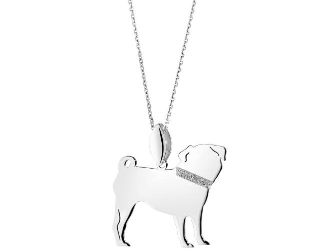 Sterling silver pendant- Pug
