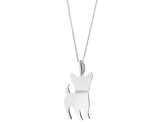 Sterling silver pendant - Chihuahua