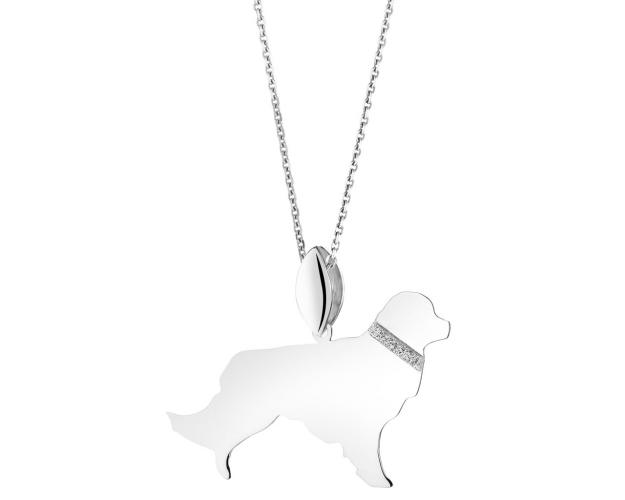 Sterling silver pendant - Golden Retriever