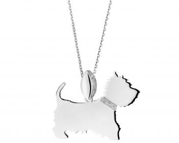 Sterling silver pendant - West Highland White Terrier