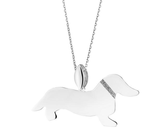 Sterling silver pendant - Dachshund