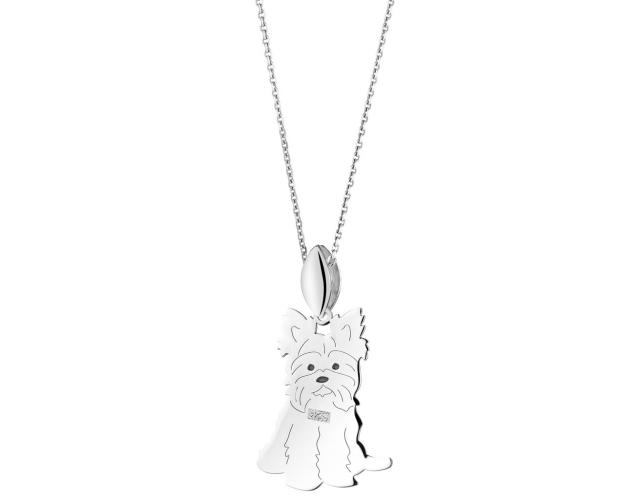 Sterling silver pendant - Yorkshire Terrier