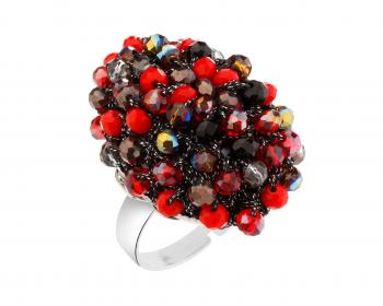 Ring With Glass Beads