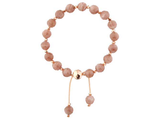 Gold-Plated Brass Bracelet with Sunstone