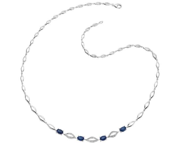 14ct White Gold Necklace with Diamonds