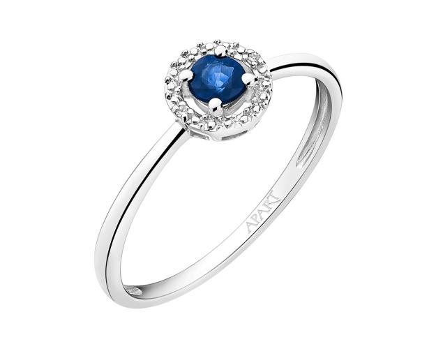 9ct White Gold Ring with Diamonds