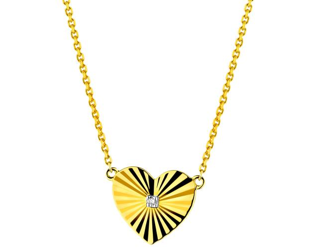 Collar de Oro Amarillo con Diamante