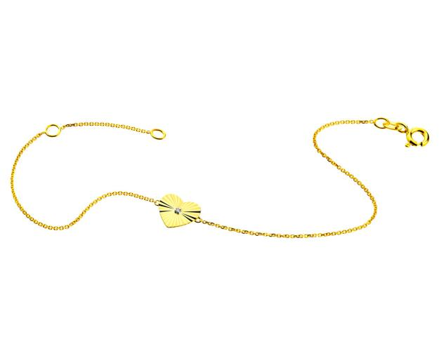 9ct Yellow Gold Bracelet with Diamond