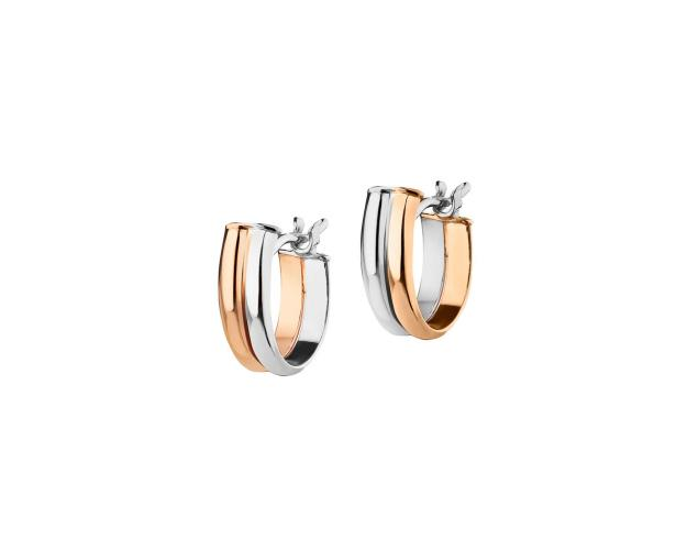 8ct White Gold, Pink Gold Earrings