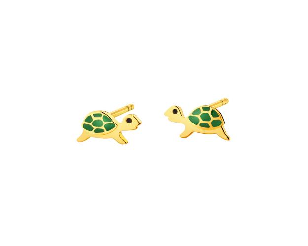 Gold earrings - Turtles