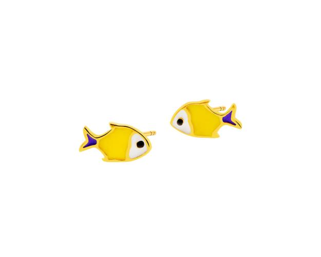 Gold earrings - Fish