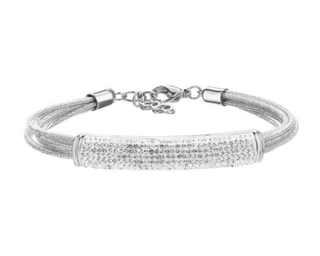 Stainless Steel Bracelet with Crystals
