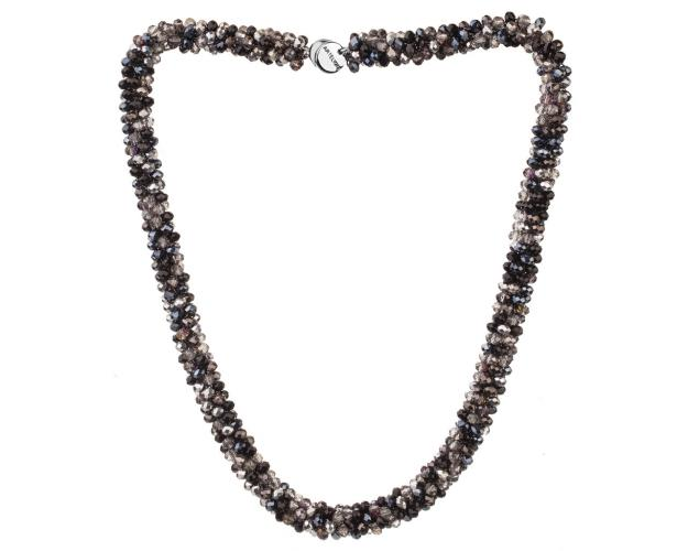 Stainless Steel Necklace with Glass Beads