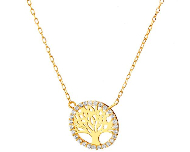 9ct Yellow Gold Necklace with Cubic Zirconia