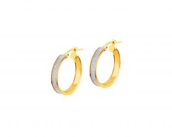 8ct Yellow gold creole earrings