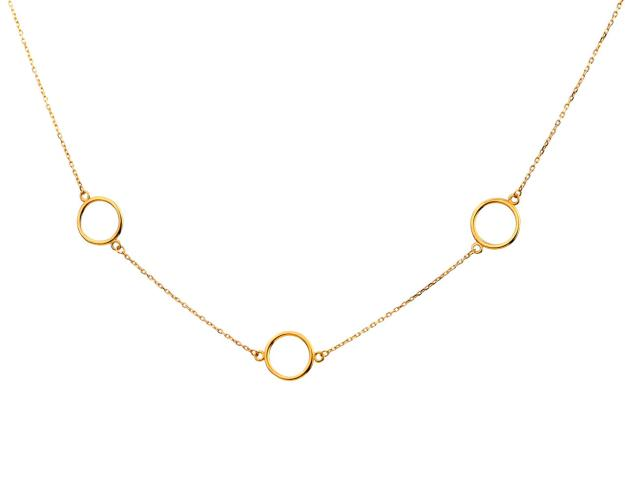 Gold necklace - Circles