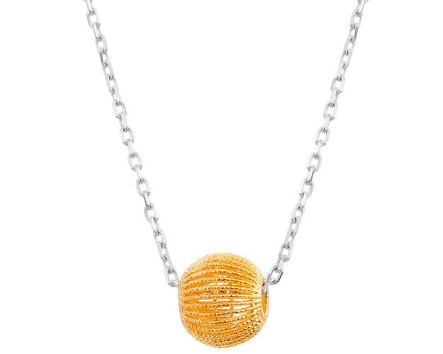 Yellow & white gold necklace