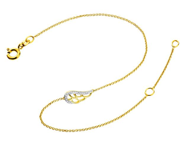 9ct Yellow Gold Bracelet with Diamonds