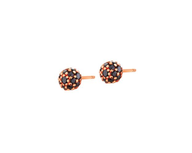 8ct Pink Gold Earrings