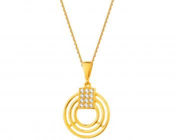 Yellow gold pendant