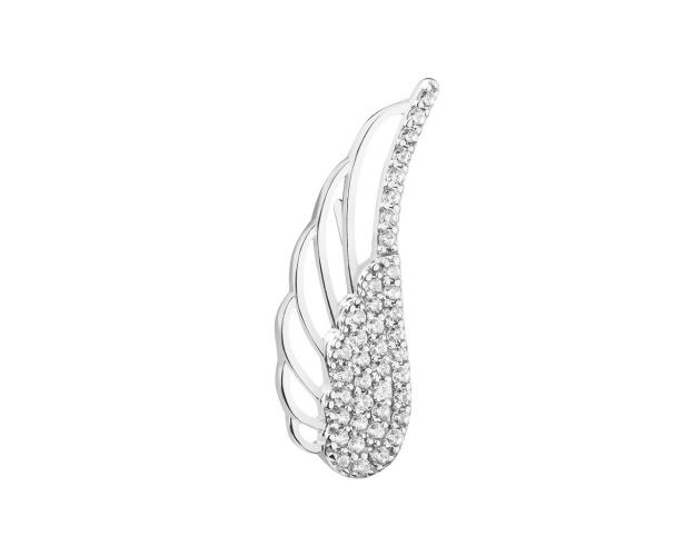 8ct White Gold Ear Cuff with Cubic Zirconia