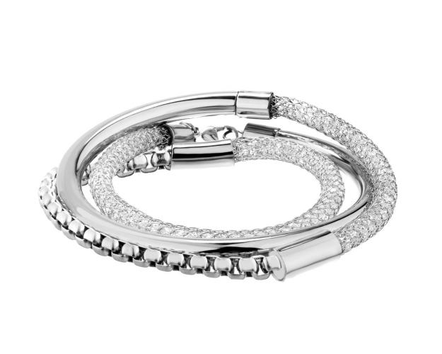 Stainless Steel Bracelet with Crystal